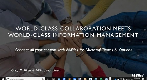 Connect all your content with M-Files for Microsoft Teams & Outlook