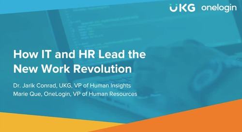 How IT and HR Lead the New Work Revolution