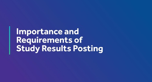 Importance and Requirements of Study Results Posting