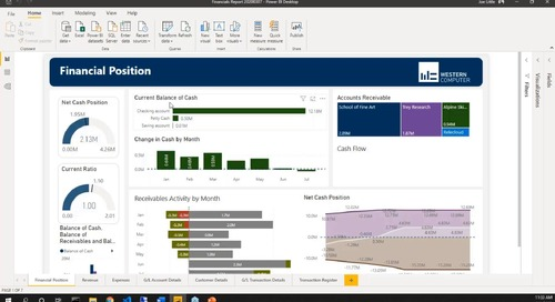 Financial Dashboard Set Up in Power BI with Dynamics 365 Business Central