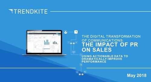 The Impact of PR on Sales