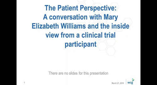 The Patient Perspective: A Conversation with Mary Elizabeth Williams