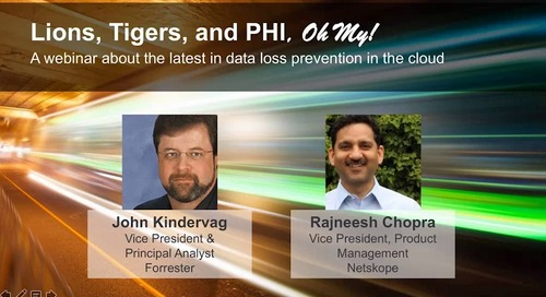 Lions, Tigers, and PHI, Oh My! The latest in data loss prevention in the cloud.
