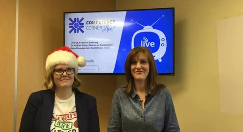 Competency Corner Live - Dec 2017
