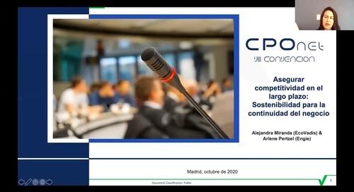 [CPONet] Sostenibilidad para la continuidad del negocio con Engie