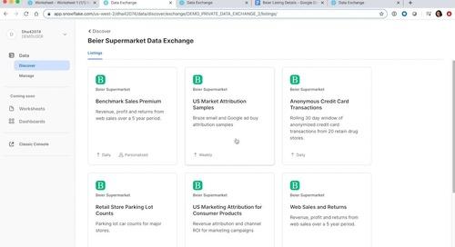 Data Exchange and Snowflake Data Marketplace
