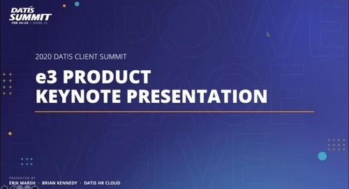 e3 Product Keynote: 2020 Roadmap