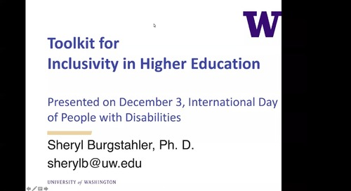 Toolkit for Inclusivity in Higher Education
