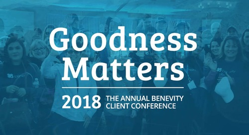 Goodness Matters 2018 (Welcome)