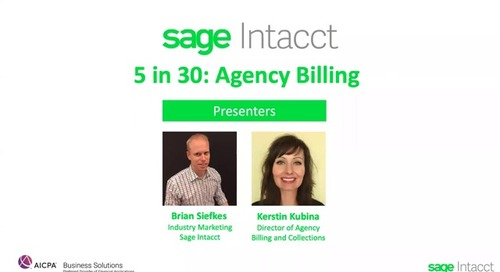 5 in 30: Agency Billing Best Practices