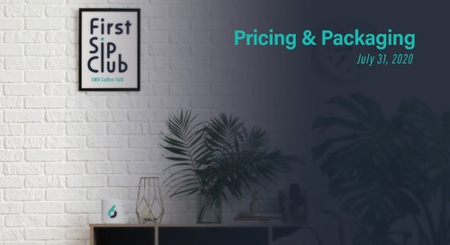 The First Sip Club Chat Wrap-up, Pricing & Packaging on July 31st