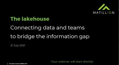 Webinar-The Lakehouse-Connecting Data and Teams