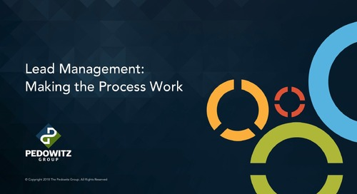 Lead Management Part 3 - Processing, Routing, and Scoring