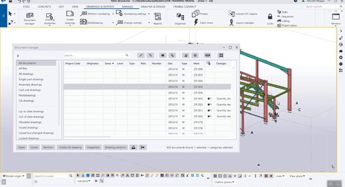 Key Features for Drawings in Tekla Structures 2020