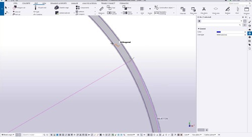 Tekla Structures - Reinforcing Cylindrical Concrete: Ringwall Foundation