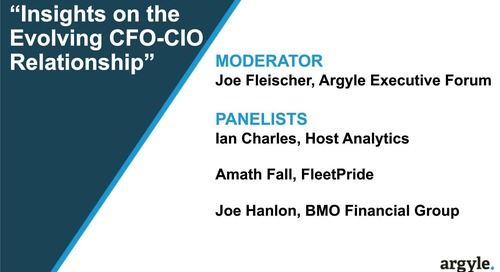 The New CFO/CIO Relationship in the Age of the Cloud