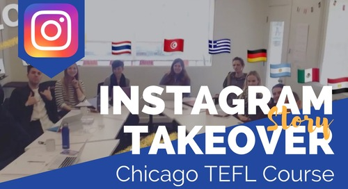 Day in the Life with Mike Verdi in Our Chicago, USA TEFL Class