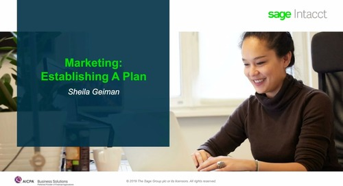 Marketing Accelerator Webinar Series, Part I: Building a Marketing Strategy and Plan
