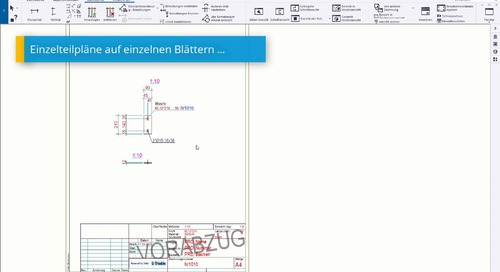 (Stahlbau)-Fertigungszeichnungen in Tekla Structures