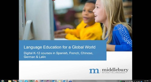 Webinar: Language Education for a Global World