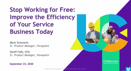 Stop Working for Free: Improve the Efficiency of Your Service Business Today with Spectrum