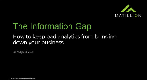 TDWI Webinar - The Information Gap How to Keep Bad Analytics From Bringing Down Your Business