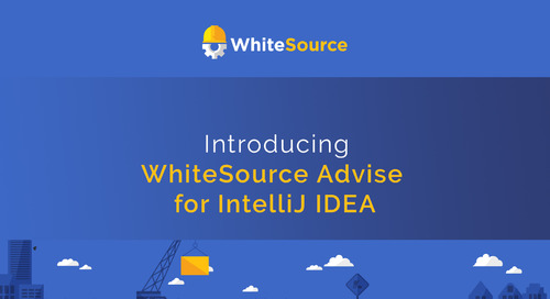 WhiteSource Advise for IntelliJ IDEA