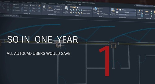 Save Faster with AutoCAD 2020