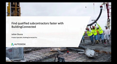 Find qualified subs faster with BuildingConnected