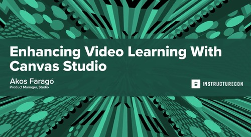 Enhancing Video Learning with Canvas Studio