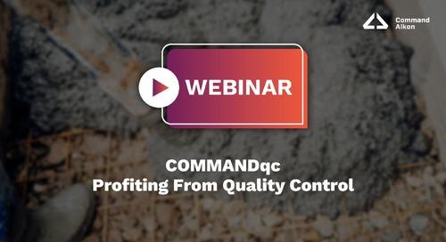 Profiting From Quality Control | COMMANDqc Webinar