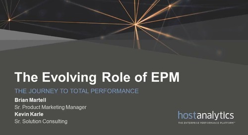 The Evolution of EPM