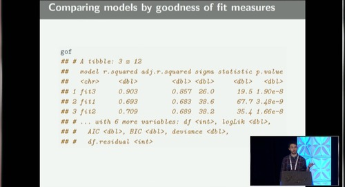Solving the model representation problem with broom - Alex Hayes