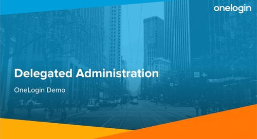 Using OneLogin's Delegated Administration Feature
