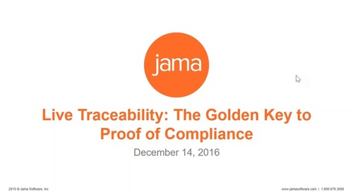 Live Traceability: The Golden Key to Proof of Compliance