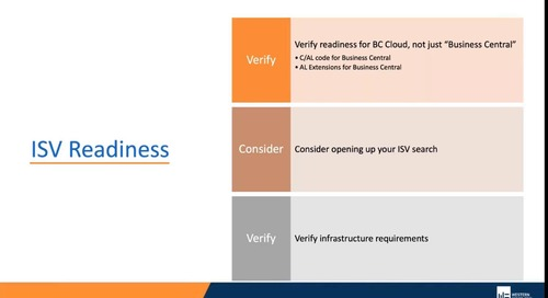 Welcome to Dynamics Business Central on the Microsoft Cloud - Part 1