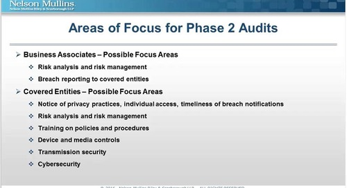 From the Front Lines Navigating the OCR Phase 2 HIPAA Audits, Featuring Beacon Health System and Trish Markus, Esq.
