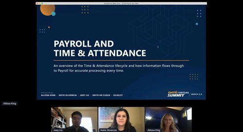 e3 Training: Payroll and Time & Attendance