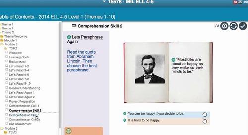 Demo: English Language Learner Digital Curriculum