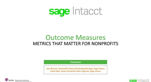 Outcome Measures - The Metrics That Matter for Nonprofits
