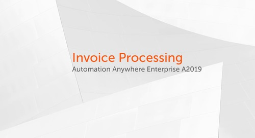 Enterprise A2019 Use Cases - Invoice Processing Use Case