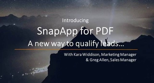 Introducing SnapApp for PDF - A new way to qualify your leads