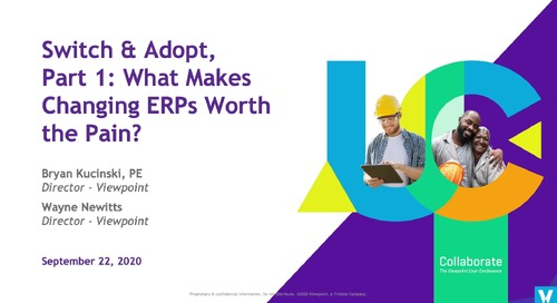 Switch & Adopt, Part 1: What Makes Changing ERPs Worth the Pain? - Industry Professional