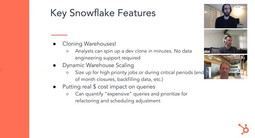 Webinar - Building a Productive Data Organization at HubSpot with Snowflake and dbt