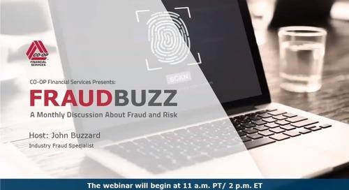 FraudBuzz Webinar - September 2019