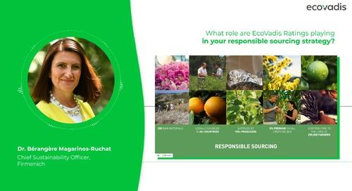 ¿Qué papel juega EcoVadis en la estrategia de abastecimiento responsable?