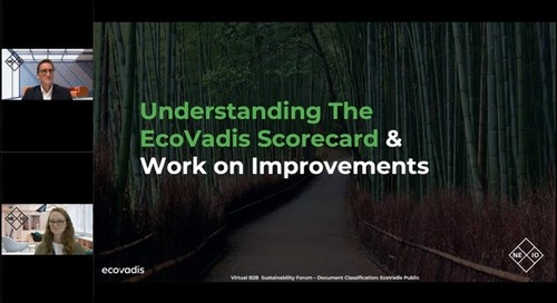 Understanding The EcoVadis Scorecard And Work on Improvements