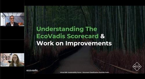 Understanding The EcoVadis Scorecard And Work on Improvements