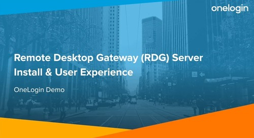 Remote Desktop Gateway (RDG) Server Install & User Experience