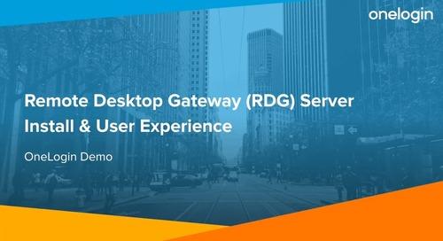Remote Desktop Gateway (RDG) Server Install & User Experience